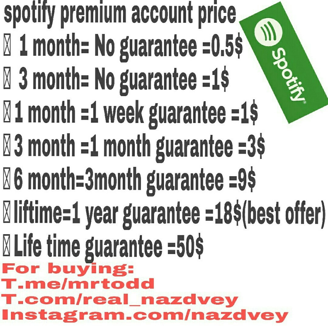 Selling premium spotify account with low price For buyi