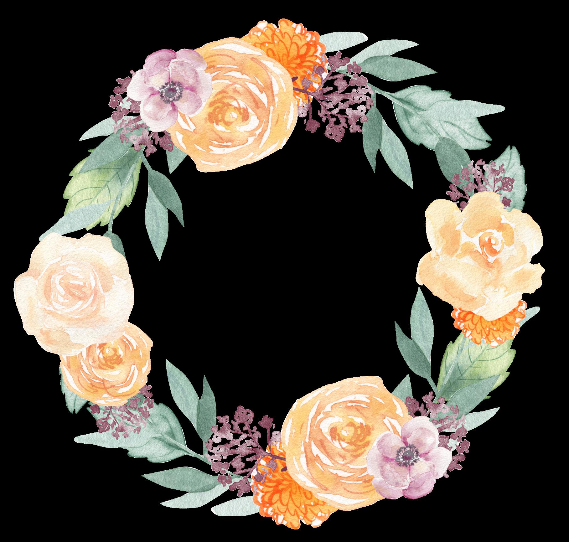 wreath flower flowers floral ftesticker watercolor...