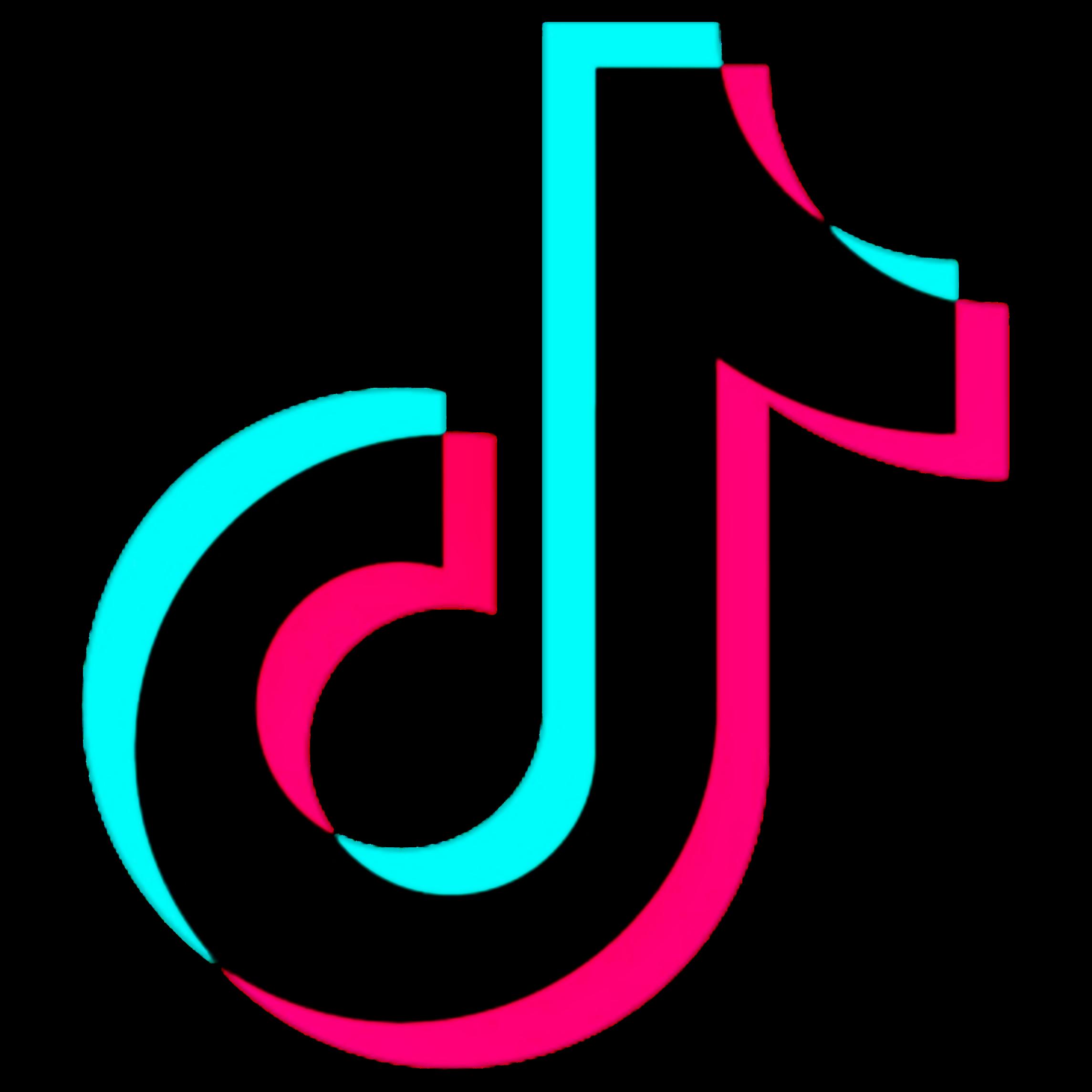 tiktok tik_tok tik tok glitch logo logotip...