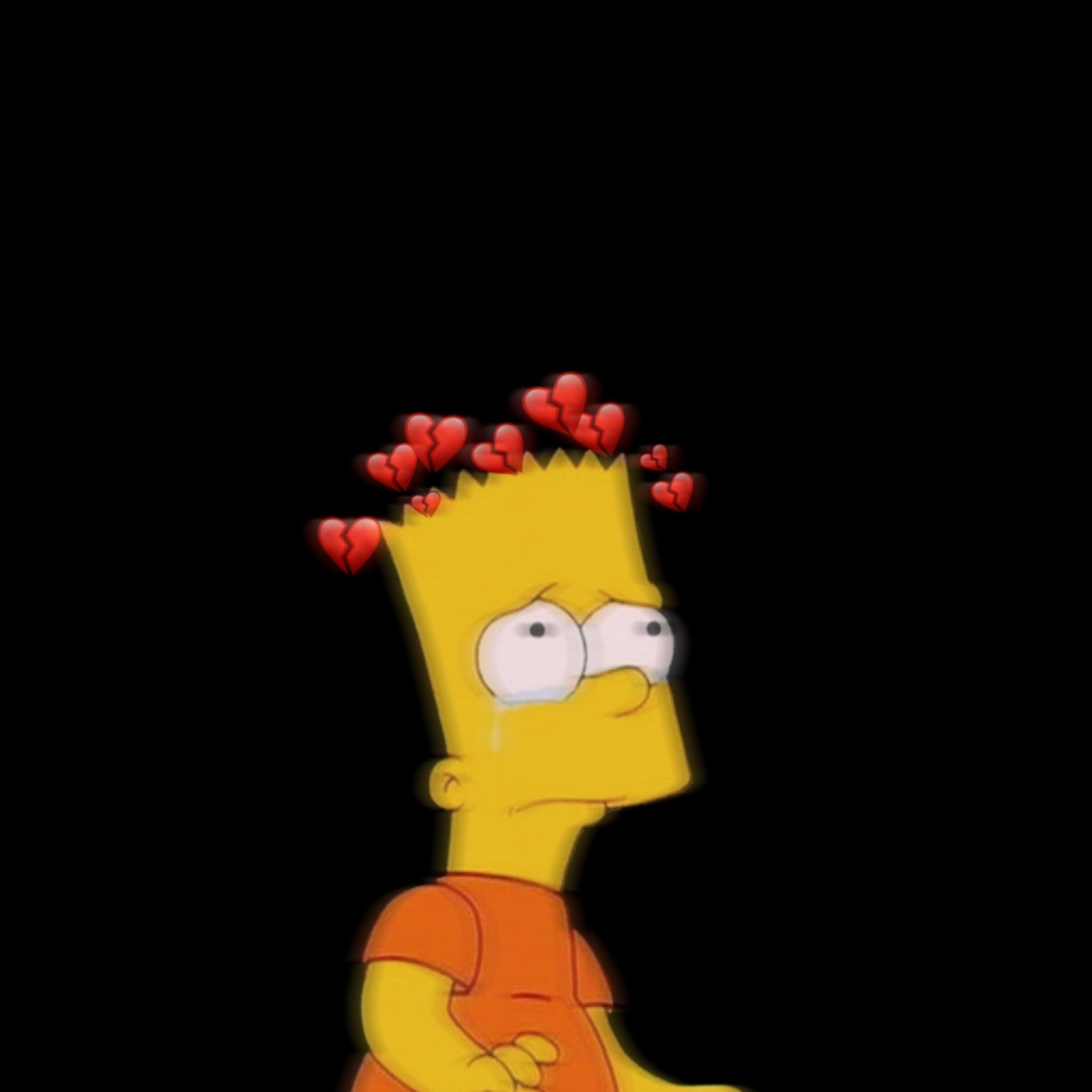 Bart Simpsons Bartsimpson Sad Emoji Brokenheart Brokenh