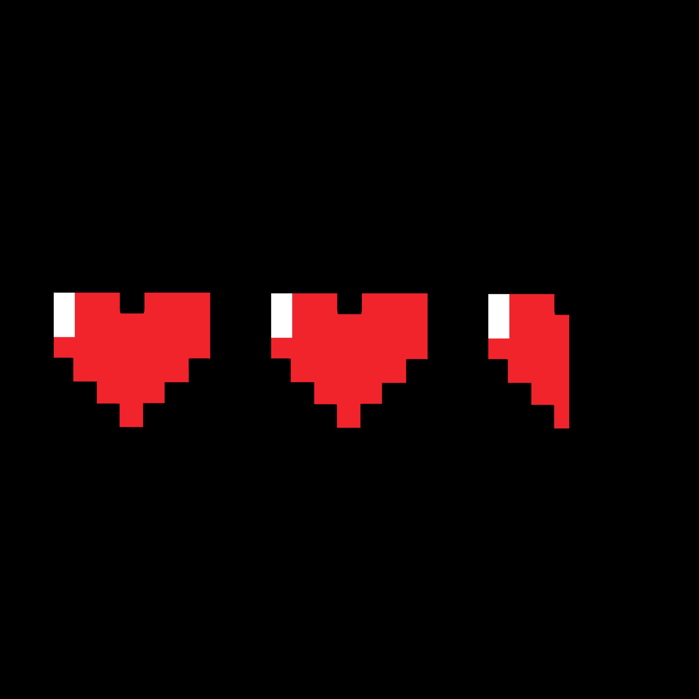 hearts pixel pixelart minecraft hp health damage half...