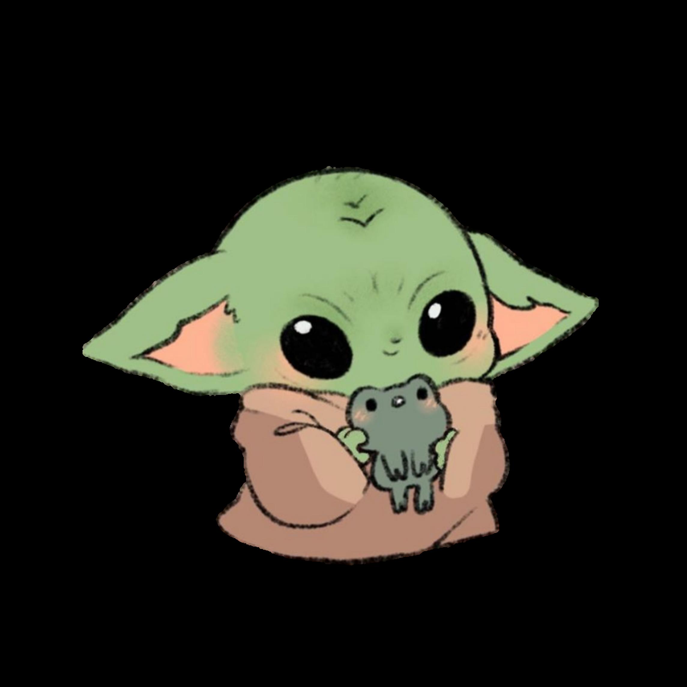 Baby Yoda Cute Art BabyYoda Sticker Cute Kawaii Baby ...