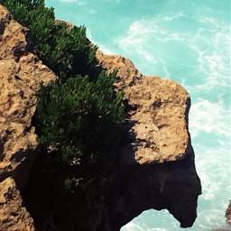 sea cliff cliffwalk cliffside rock