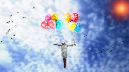 freetoedit clipart blur ballons sky