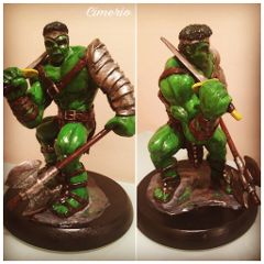 myhobby sculpture hulkworldwar hulk marvel