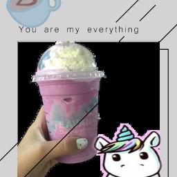 unicornfrappuccino starbucks freetoedit