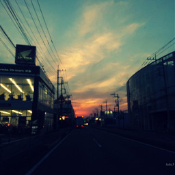 street neighborhood route254 eveningsky japan