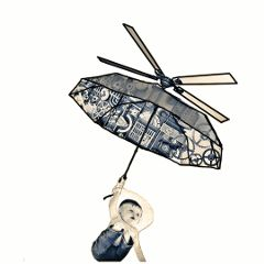 remixed baby umbrella flying