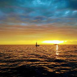freetoedit sunset seasky sea clouds