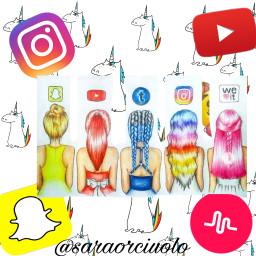 socialnetwork snapchat instangram musicaly youtube freetoedit