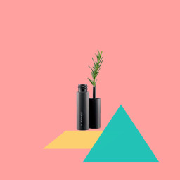 makeup object shapes pastel mascara freetoedit