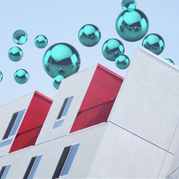 freetoedit urban building bubbles metalic