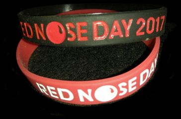 rednosedayusa rednoseday bracelets blackandred redandwhite