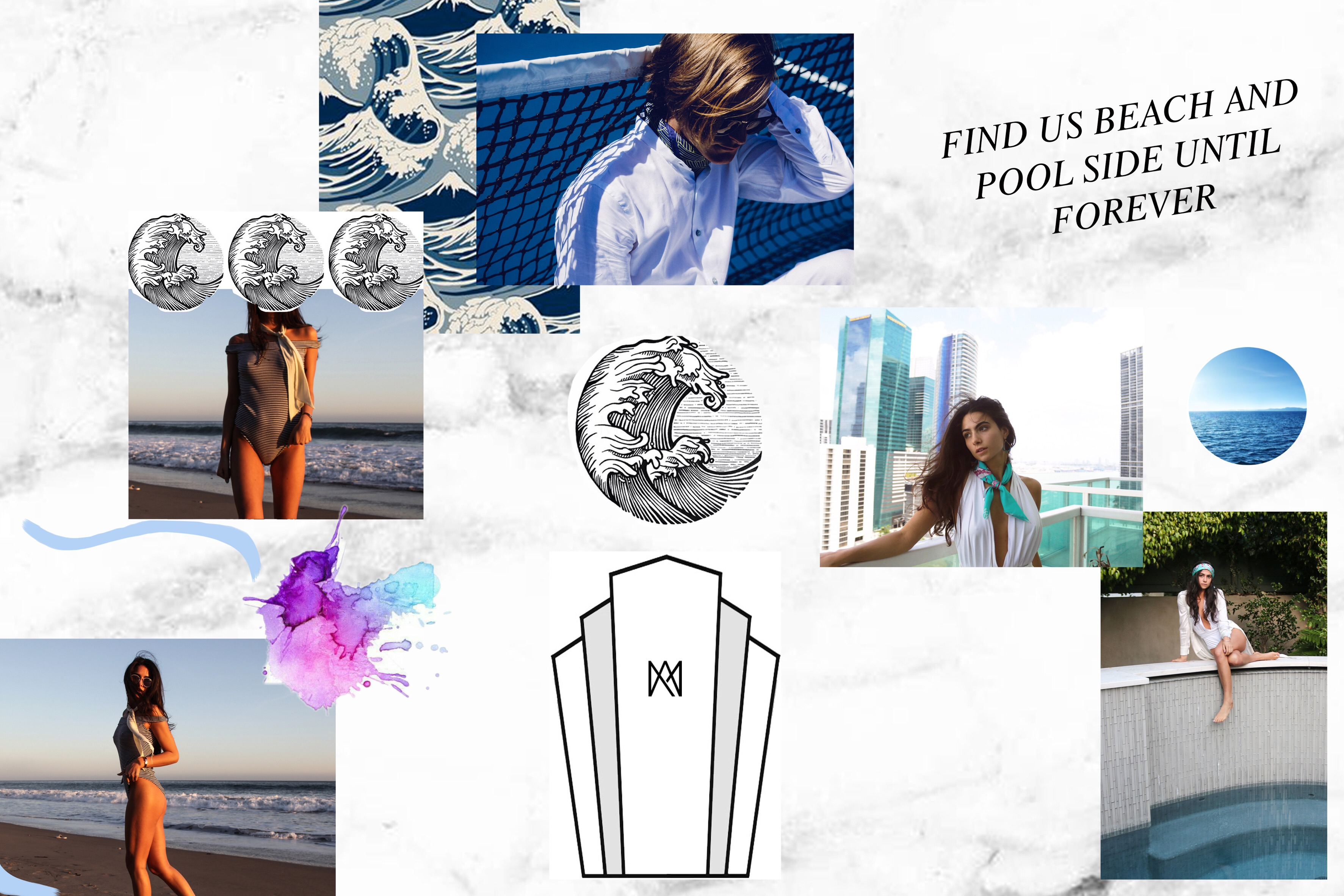 #FreeToEdit New collage for #AMCLUB silk. ? #beach #miami #malibu