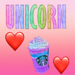 unicorn starbucks unicornfrappucino nevertry freetoedit