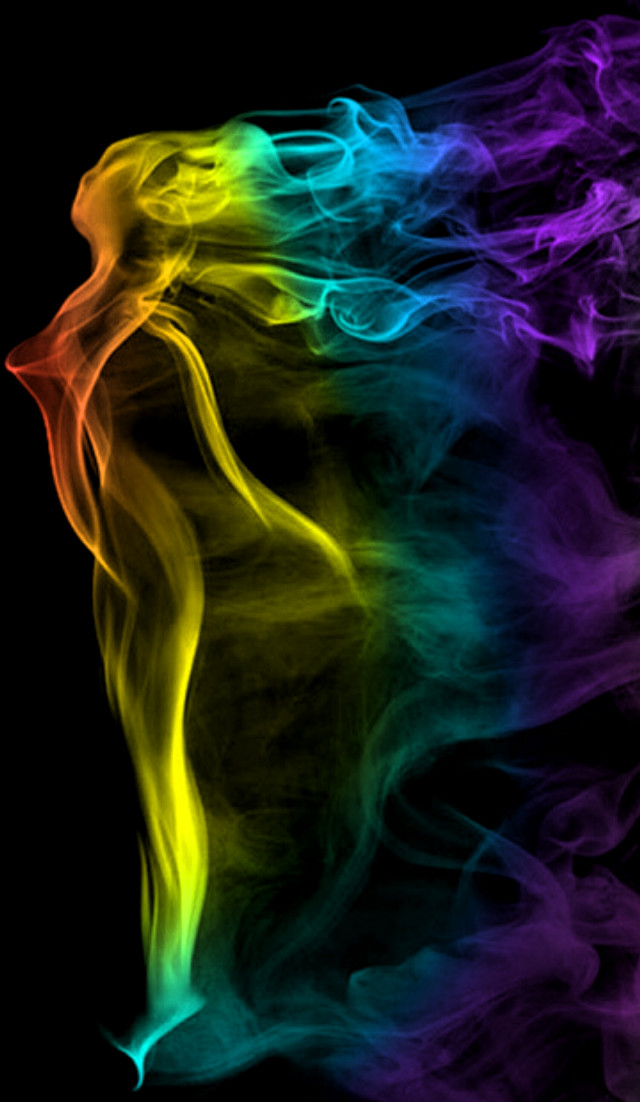 Woman silhouette  #smoke #rainbowcolors #rainbowlight #rainbowlightcontest