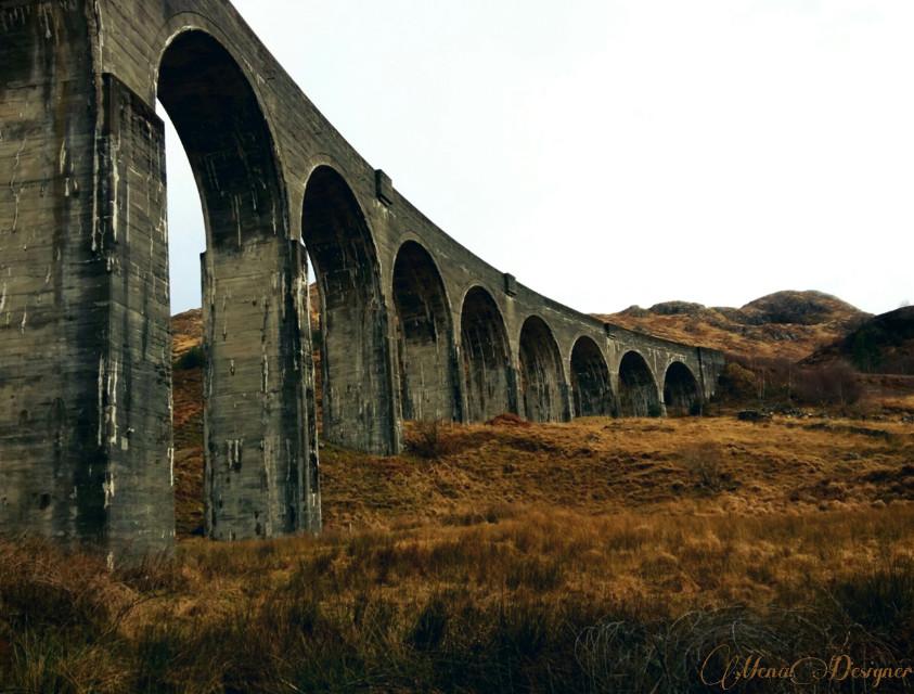 The famous Harry Potter bridge in Scotland 🌉💝🌉 #emotions #travel #bridge #nature #beautiful #myphoto #myview #sky #mountain @pa @freetoedit #dpcbridges