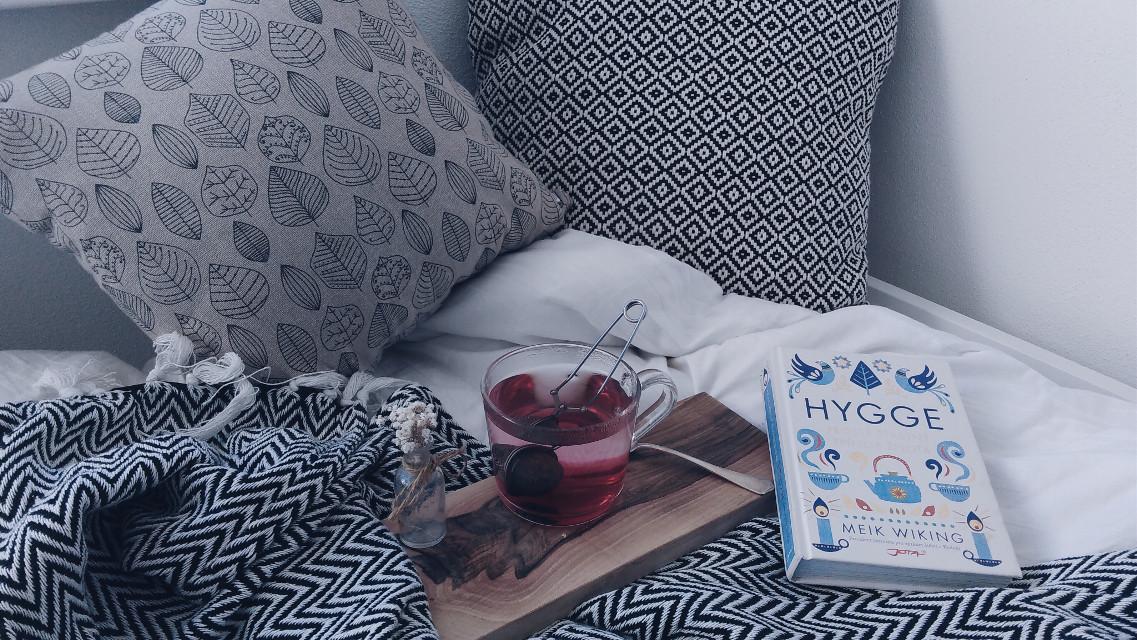 #hygge #hyggekrog #hottea #rainymorning #thebestbook #inmybed #fullofblankets