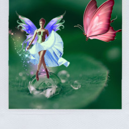 fairy butterfly collage collageart freetoedit