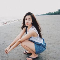 freetoedit people thailand beach sky