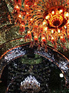 mosque iran lights