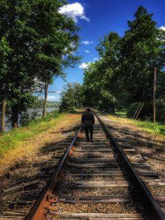freetoedit railroad nature photography beautifulday