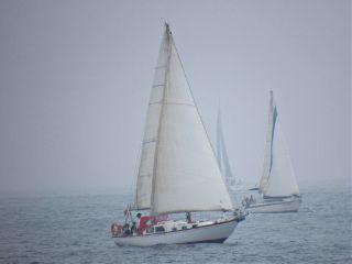 photography sea boat fog nature freetoedit