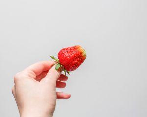 freetoedit strawberry fresh hand white