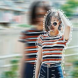 cutouttool picsart outlinescontest blureffect sticker freetoedit