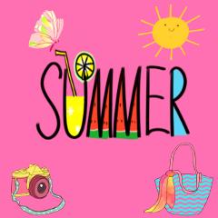 freetoedit summer season collage colorful