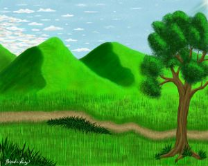 digitaldrawing art drawing landscape mountain