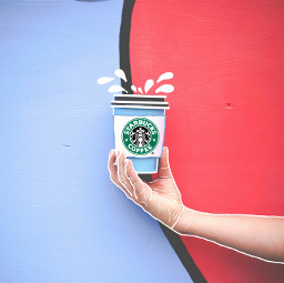 FreeToEdit starbucks featurethis featurethisphoto featureme picsart drawing coffee hand drink summer outlinecontest