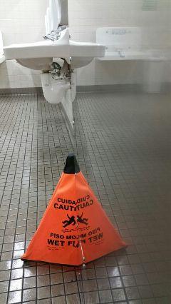 photography cone caution wetfloor door
