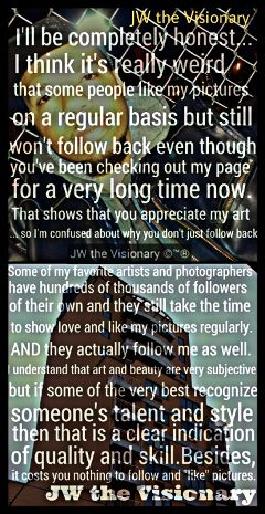 jwthevisionary quote artist photographer writer