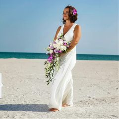 beachday weddingphoto tan flowers me