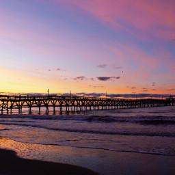 sunrise beach beautiful colorful reflectiononwater
