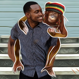 freetoedit myedit monkey friends bffs4ever