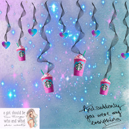 loveneverends starbucks loveneverdies unicornfrappucino freetoedit