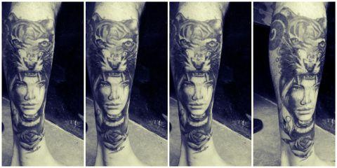 tattooart blackandwhite méxico en m