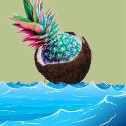freetoedit interesting love coconut queen