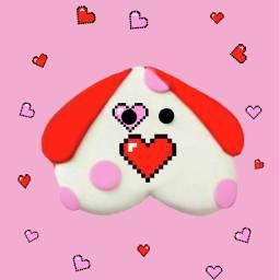 freetoedit 8bit heart dog editedbyme