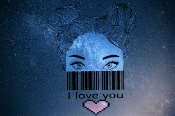 myedit dailystickerremix pixelatedheartstickerremix love text freetoedit
