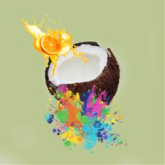 freetoedit coconut splash interesting cool