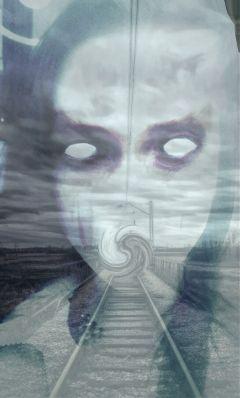 freetoedit blackandwhite monster scream horror
