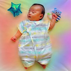 freetoedit baby rainbowlight colorful cute