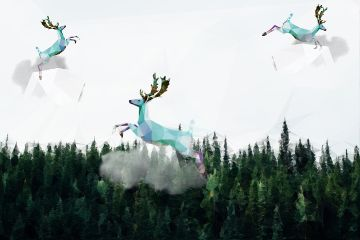 freetoedit polygoneffect polygon deer animals