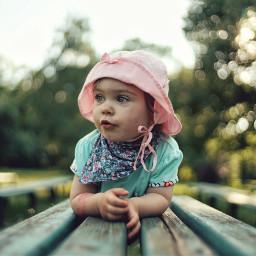 freetoedit bokeh babygirl park portrait