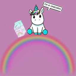 rainbow unicorn rainbowstickerremix