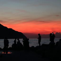 freetoedit summer sunset sillouette people