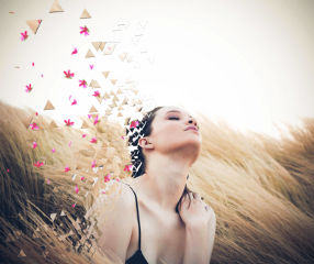 freetoedit girl flower dispersioneffect